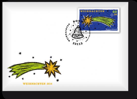 Ersttagsbrief mit 1 Weihnachtsmarke - Bonn