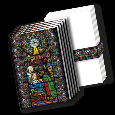 Karten mit Kuverts 'Anbetung der Könige'