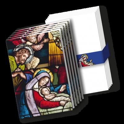 Karten mit Kuverts 'Geburt Christi'