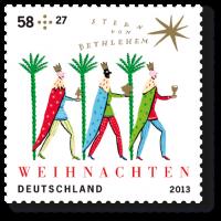 """Weihnachtmarke 2013 """"Stern von Bethlehem"""""""